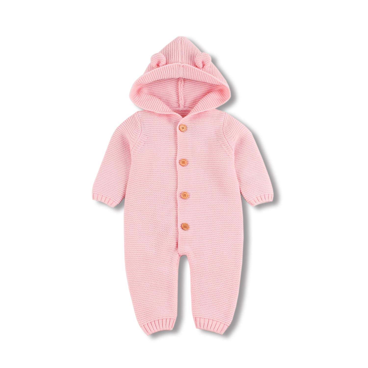 mimixiong Baby Sweater Romper Layette Jumpsuits Hooded Jackets Coats