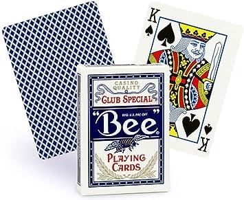 Caja de 12 barajas BEE Poker (12 Azul): Amazon.es: Juguetes y ...