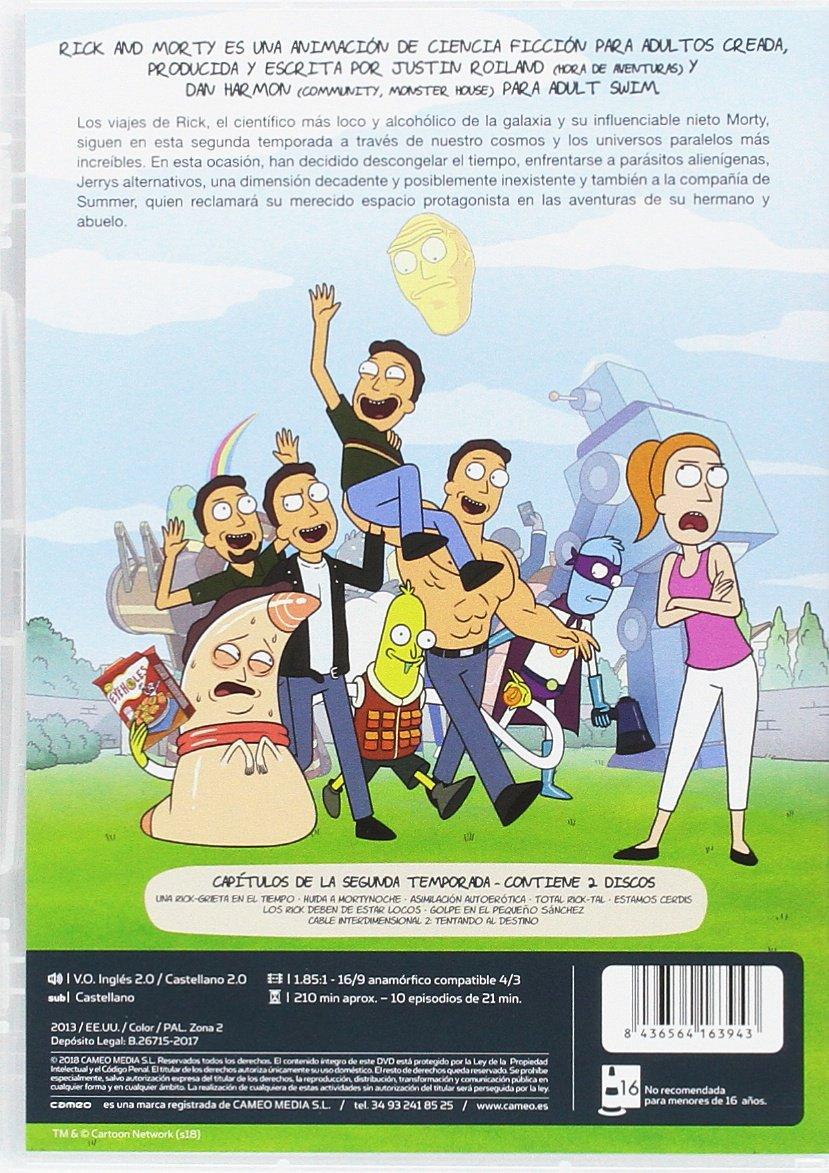 Rick And Morty Rick Y Morty Temporada 2 Spanien Import Siehe Details Für Sprachen Amazon De Animación Dan Harmon Justin Roiland Dvd Blu Ray