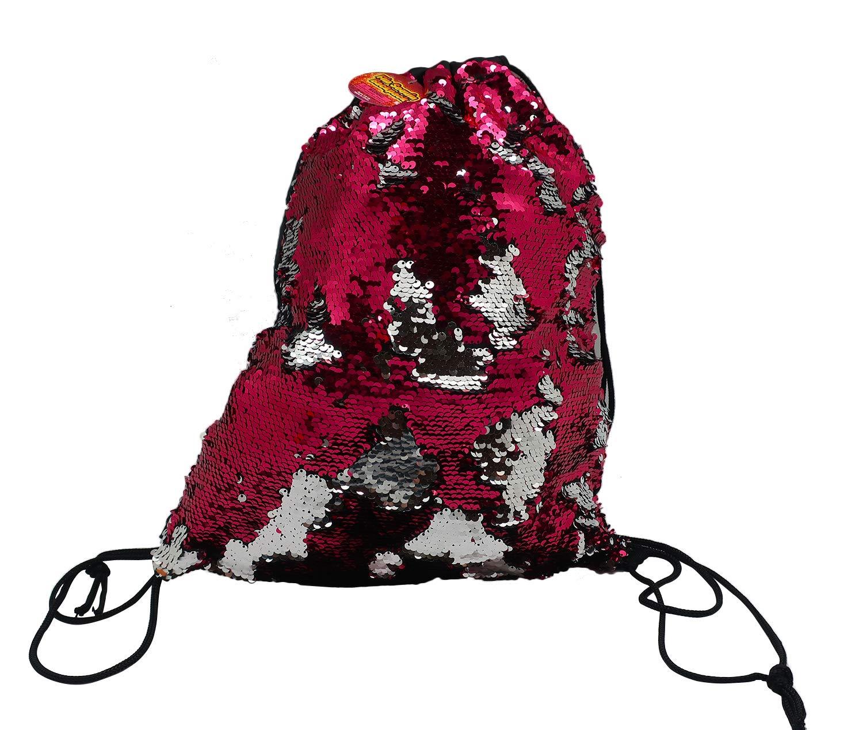 Black//Gold Sports Bag Reversible Sequin Drawstring Bag ~ Backpack ~ Memaid Sequin Gym Bag Glittering Shoulder Bag Travel Bag