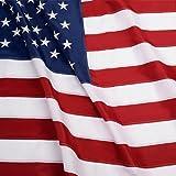 G128 - U.S. Nylon US Flag 3x5 Ft Embroidered Stars Sewn Stripes Brass Grommets 210D Quality Oxford Nylon