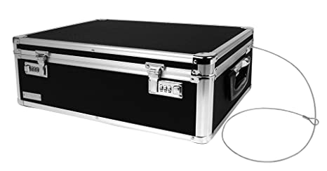 Superbe Vaultz Locking Storage Box, 6.5 X 19 X 13.5 Inches, Black (VZ00323)