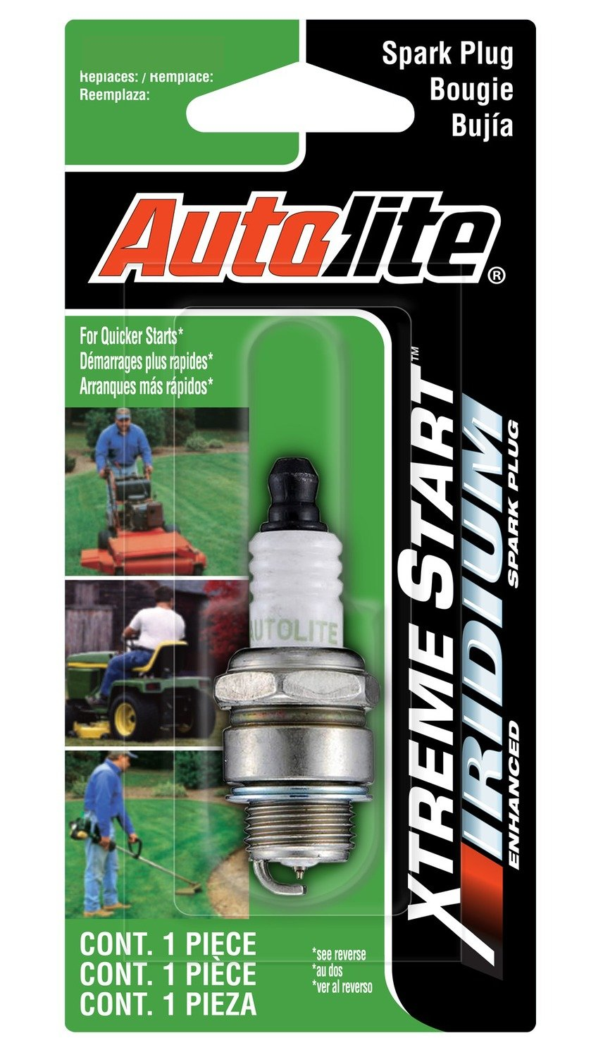 Amazon.com: Autolite XST4055DP Xtreme Start Iridium Lawn & Garden Spark Plug: Automotive