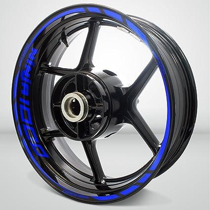 Kawasaki Ninja 1000 Gloss Blue Motorcycle Rim Wheel Decal Accessory Sticker