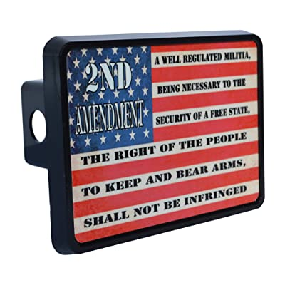 Rogue River Tactical USA American Flag 2nd Second Pro Gun Amendment Trailer Hitch Cover Plug US: Automotive