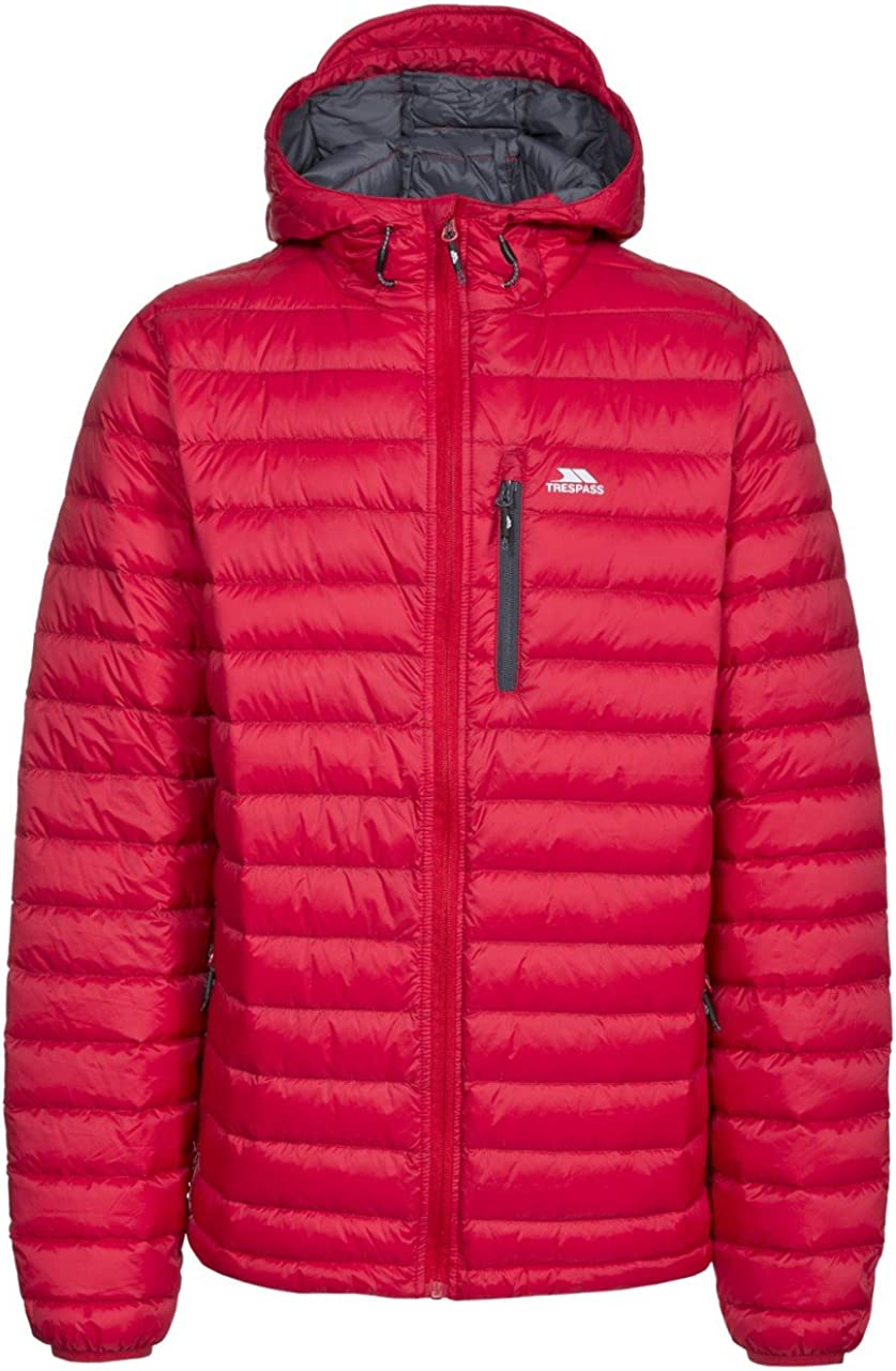 Trespass Digby Mens Down Jacket Packaway Lightweight Padded Showerproof Coat