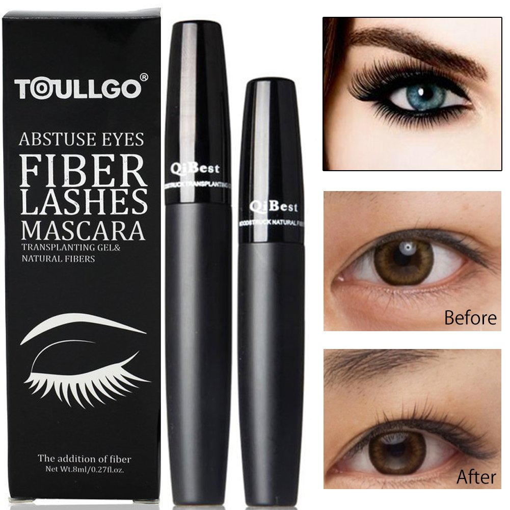 3D Fiber Lash Mascara,3d Fiber Lashes, 3d Fiber Mascara - Best for Thickening & Lengthening, Lasting All Day, Waterproof, Smudge Proof & Hypoallergenic Ingredients (1pc)
