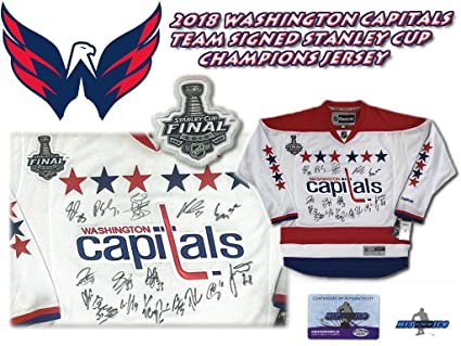 brand new 0f432 c3da6 2018 Washington Capitals Team Signed Jersey - STANLEY CUP ...