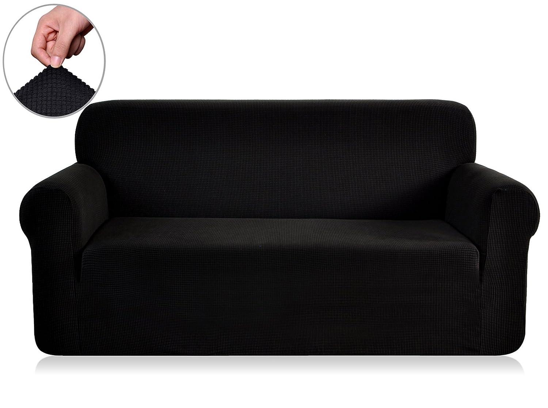 Chun YI 1-Piece Stretch Spandex Jacquard Chair Slipcovers (Recliner, Gray) LTD recliner covers 8