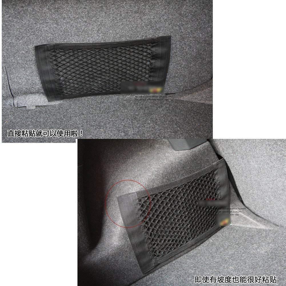Ogquaton Gabbia tascabile posteriore per baule posteriore per auto di alta qualit/à borsa portaoggetti in rete elastica con cordino per sedile