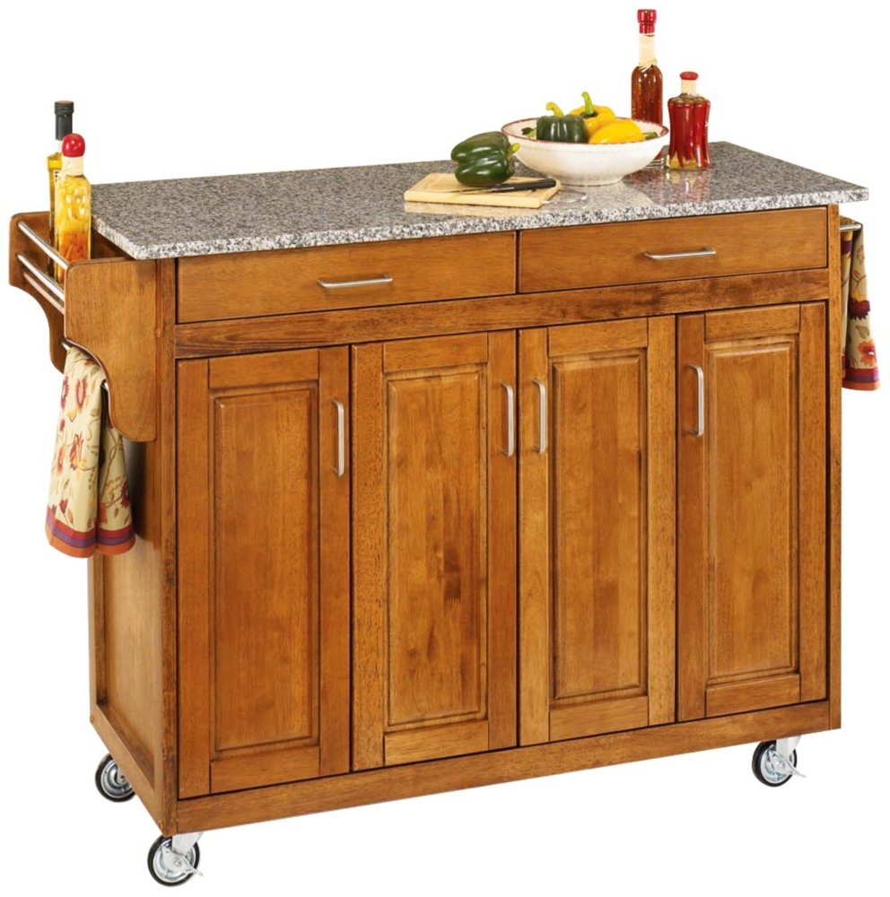 amazon com home styles 9200 1063 create a cart 9200 series amazon com home styles 9200 1063 create a cart 9200 series cabinet kitchen cart with gray granite top cottage oak finish kitchen islands carts