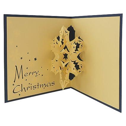 Tarjeta 3D con diseño de copo de nieve, tarjeta de Navidad ...