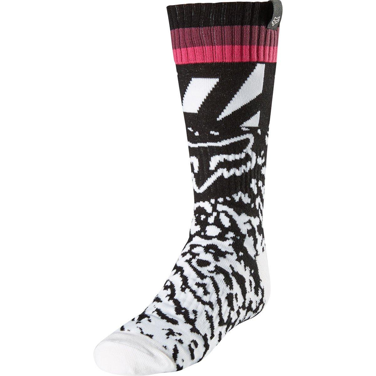2018 Fox Racing Girls MX Socks-Black/Pink-YS