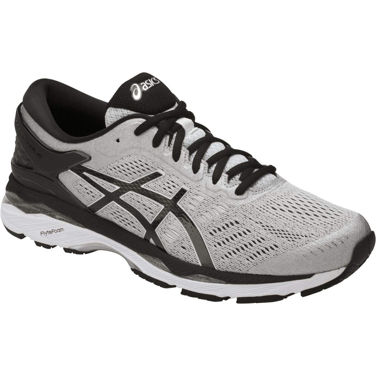 ASICS Mens Gel-Kayano 24 Running Shoe, Silver/Black/Mid Grey, 6 2E US by ASICS (Image #1)