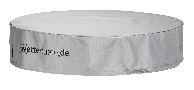 Wettertüte Tischplattenabdeckung rund 125x25 cm, Abdeckhaube, Schutzhülle