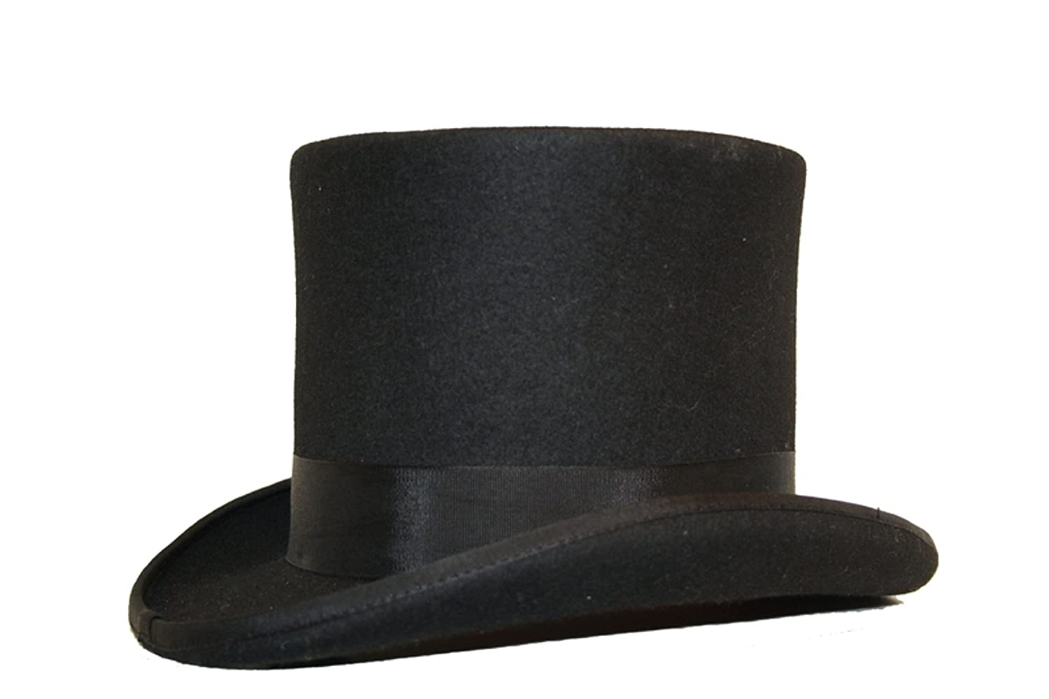 798858ad101 VIZ-UK WEAR Quality 100% Wool Hand Made Wedding Event Felt Top Hat 13  Colours Available  Amazon.co.uk  Clothing
