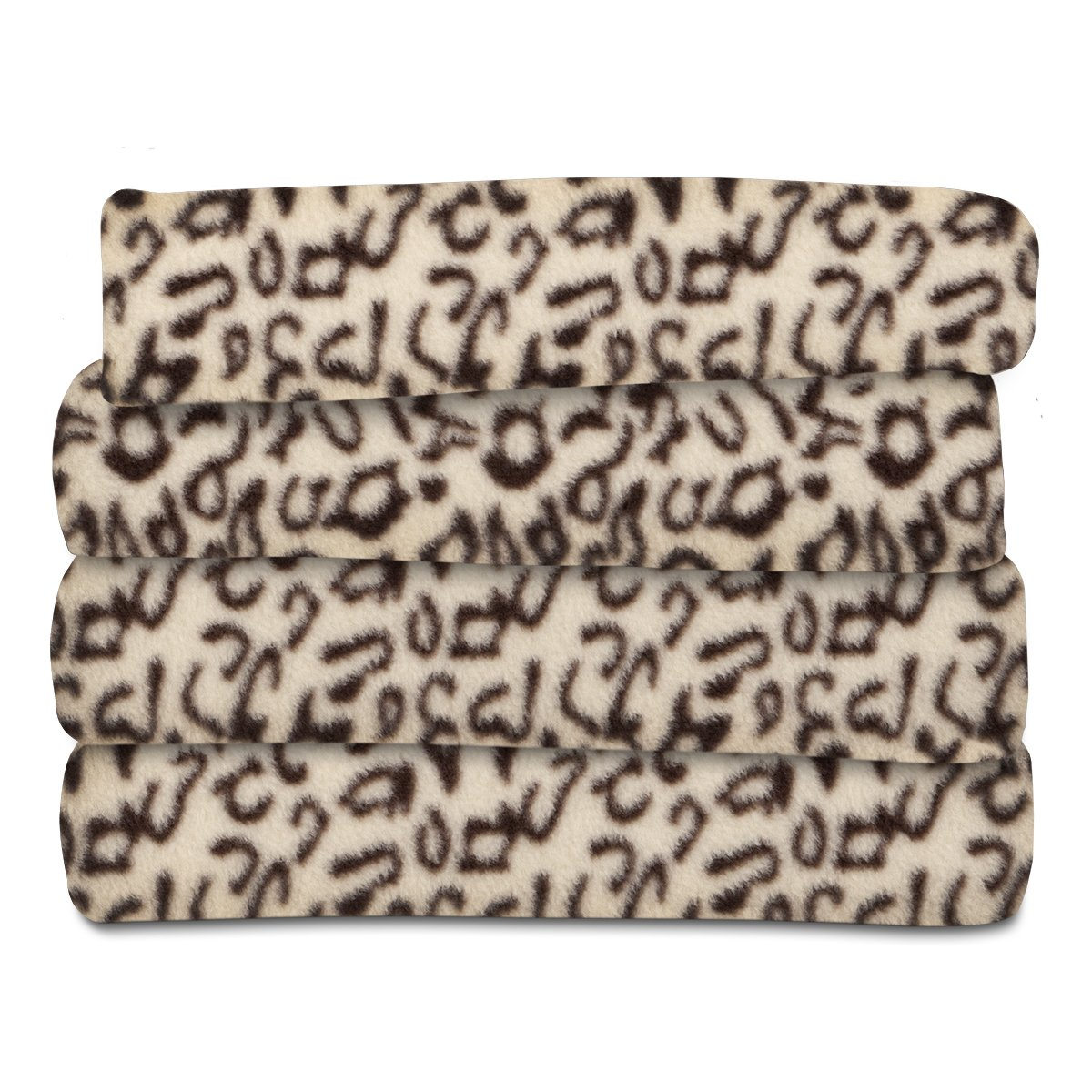 Sunbeam Heated Throw Blanket | Fleece, 3 Heat Settings, Cheetah