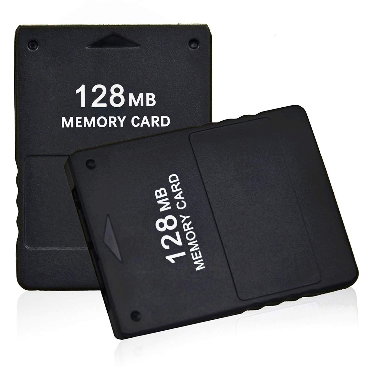 TPFOON 2pcs Pack 128MB High Speed Game Memory Card Compatible with Sony Playstation 2 PS2 (Black)
