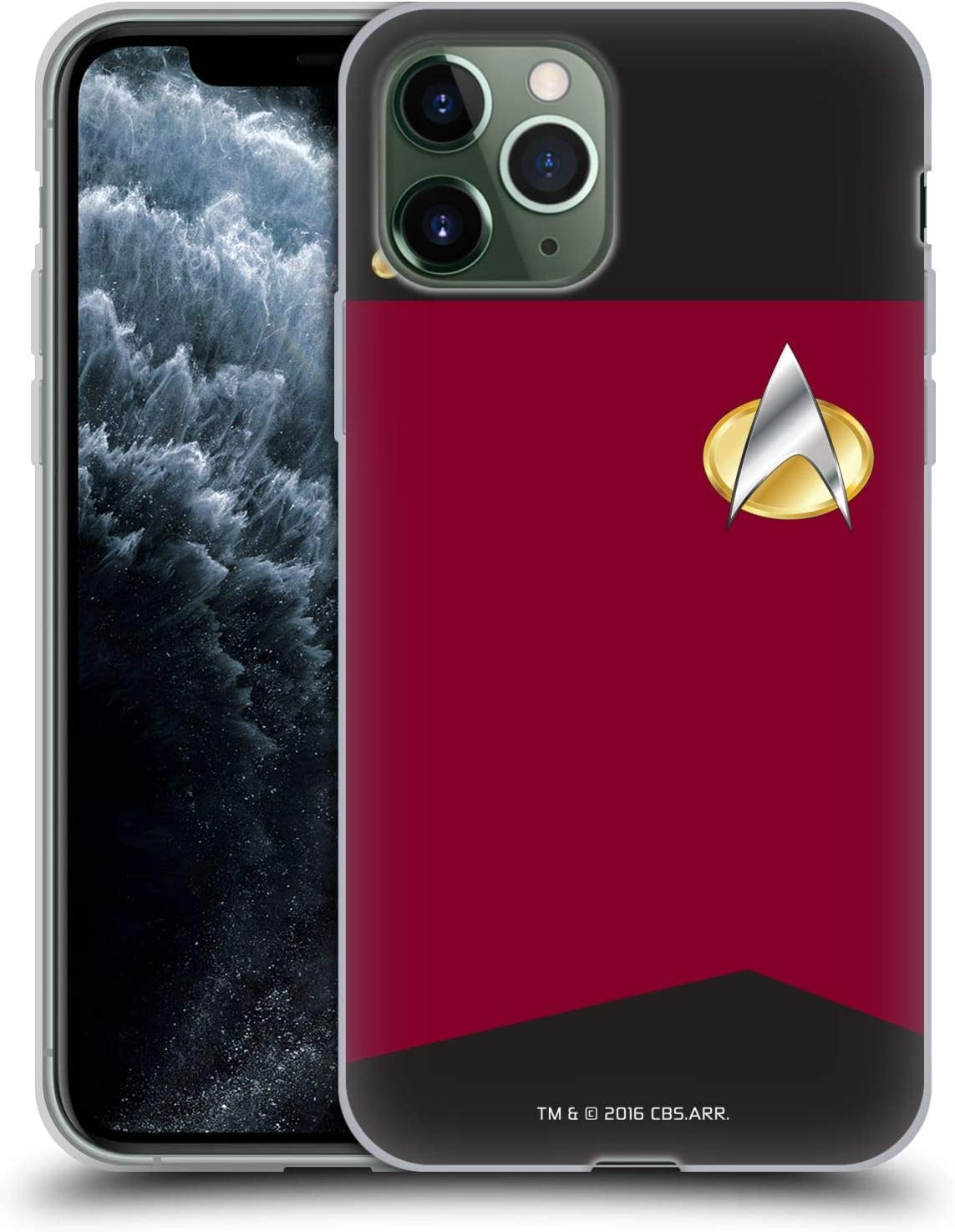 Head Case Designs Officially Licensed Star Trek Captain Uniforms and Badges TNG Soft Gel Case Compatible with Apple iPhone 11 Pro