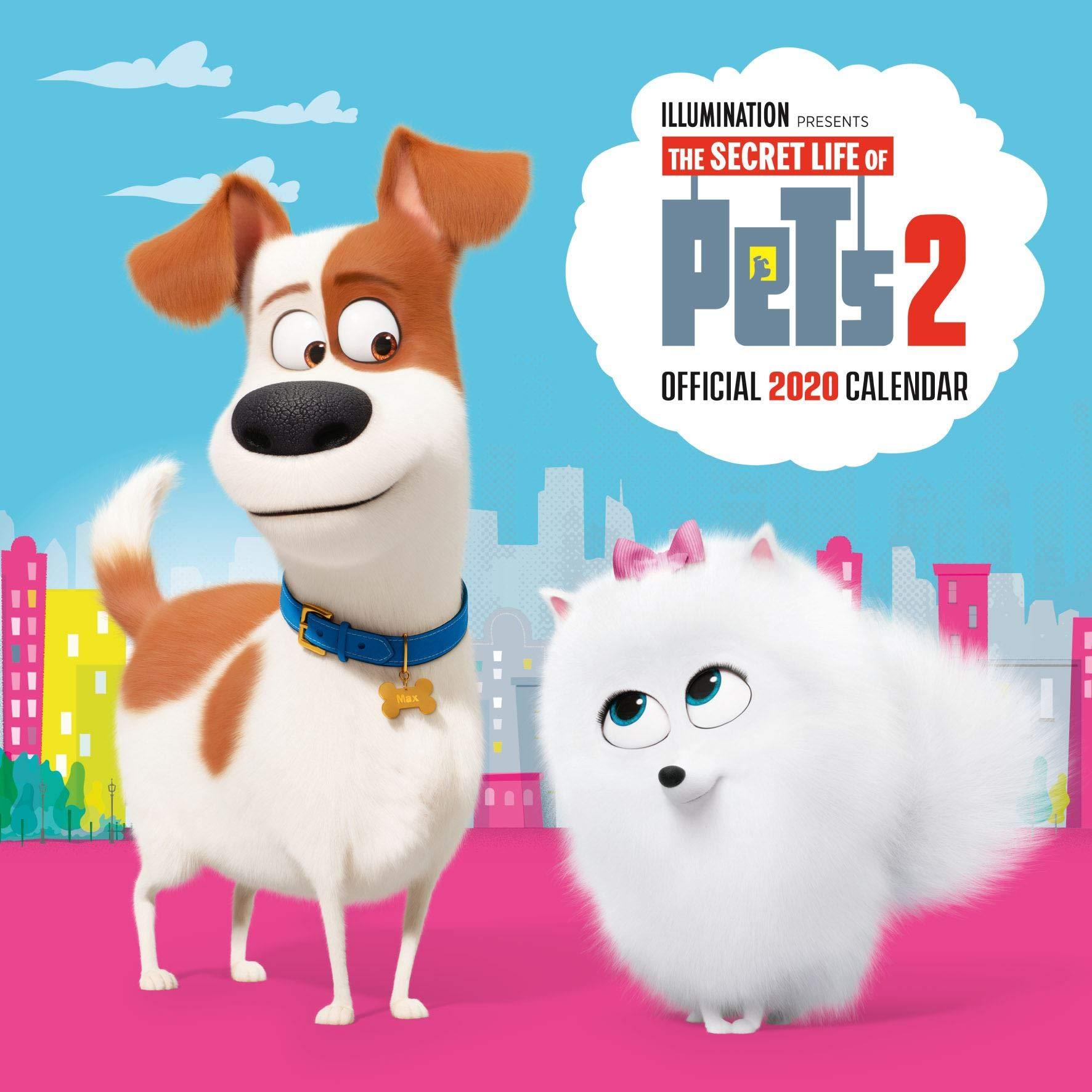 Secret Life Of Pets 2 2020 Calendar Official Square Wall Format