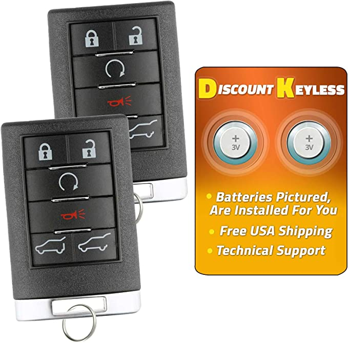 24401698 22692190 Discount Keyless Replacement Key Fob Car Remote Compatible with LHJ009 2 Pack