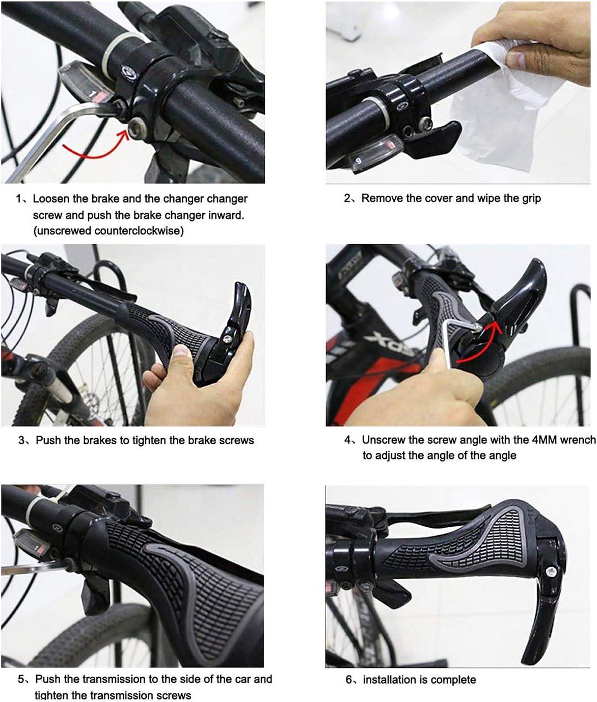 Mango de Goma Antideslizante para Empu/ñadura de Bicicleta con Cerradura de Aluminio PROZADALAN Pu/ños para Bicicletas con M/áscara de Camuflaje Pu/ños de Bicicleta para Bicicleta//Bicicleta de Monta/ña