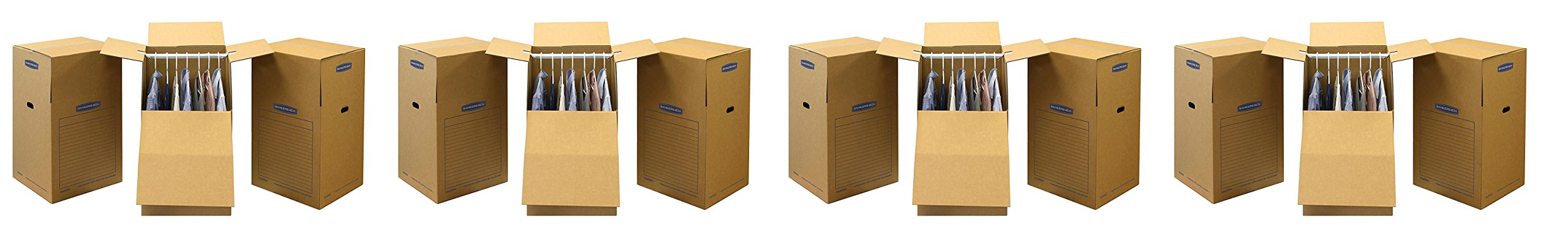 Bankers Box SmoothMove Wardrobe Moving Boxes, Tall, 24 x 24 x 40 inches,(7711001) (4 X Pack of 3)