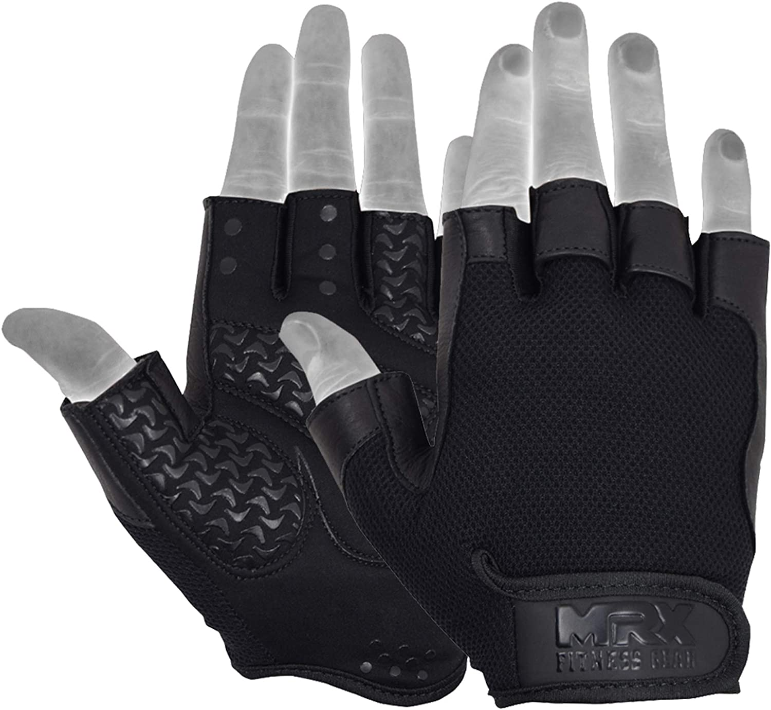 Leather Gym Gloves Weight Lifting Body Building Fitness Exercise Training Cycle