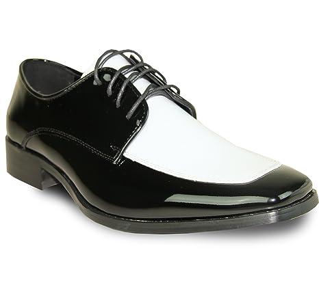 VANGELO Tux-3 Tuxedo Zapatillas de Vestir para Hombre, Color Dos Tonos Sin Arrugas