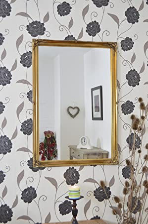 40 x 28 102cmx71cm Large Gold Framed Modern Wall Mirror