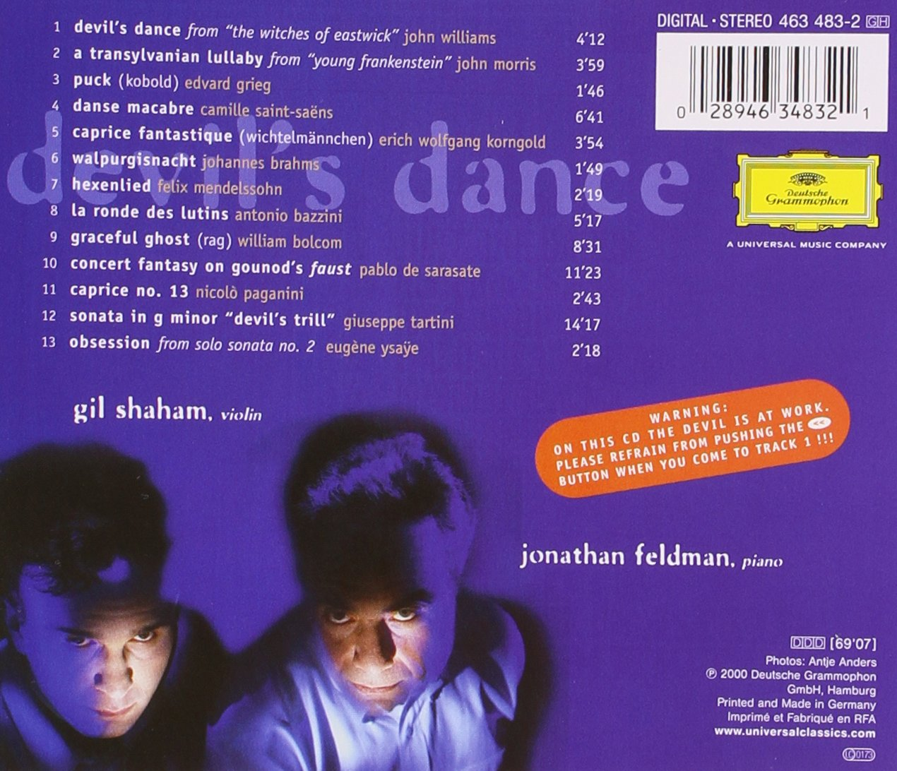 Gil Shaham & Jonathan Feldman - The Devil's Dance by Deutsche Grammophon