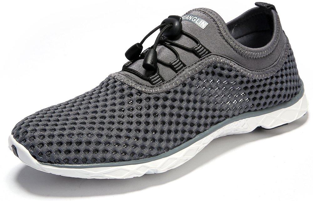 Zhuanglin Women's Quick Drying Aqua Water Shoes,Darkgrey,9 B(M) US by Zhuanglin (Image #2)