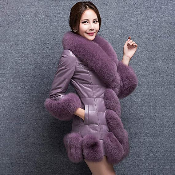 Amazon.com: Besde Womens Autumn and Winter Fashion Faux Fur Coat Plush Splice Outerwear Long Down Coat: Home & Kitchen
