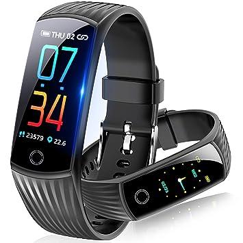 0a0a75261f スマートウォッチ 2019最新 血圧計 心拍計 歩数計 スマートブレスレット カラースクリーン 活動量