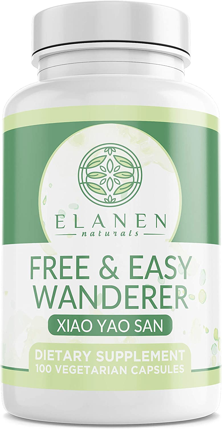 Xiao Yao San – Free and Easy Wanderer – Talc-Free Xiao Yao Wan – Chinese Herbal Formula for Womens Health, PMS Relief, and Hormone Balance for Women – 100 Capsules