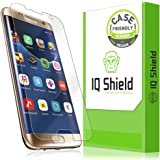 Galaxy S7 Edge Screen Protector, IQ Shield LiQuidSkin [Updated Design][Case Friendly] Full Coverage Screen Protector for Samsung Galaxy S7 Edge HD Clear Anti-Bubble Film - with