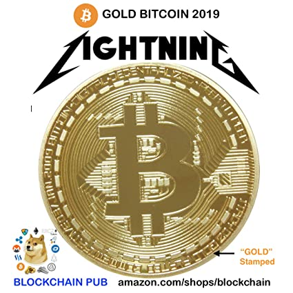 Amazon Gold Bitcoin 2019 COMMEMORATIVE CELEBRATE THE BITCOIN