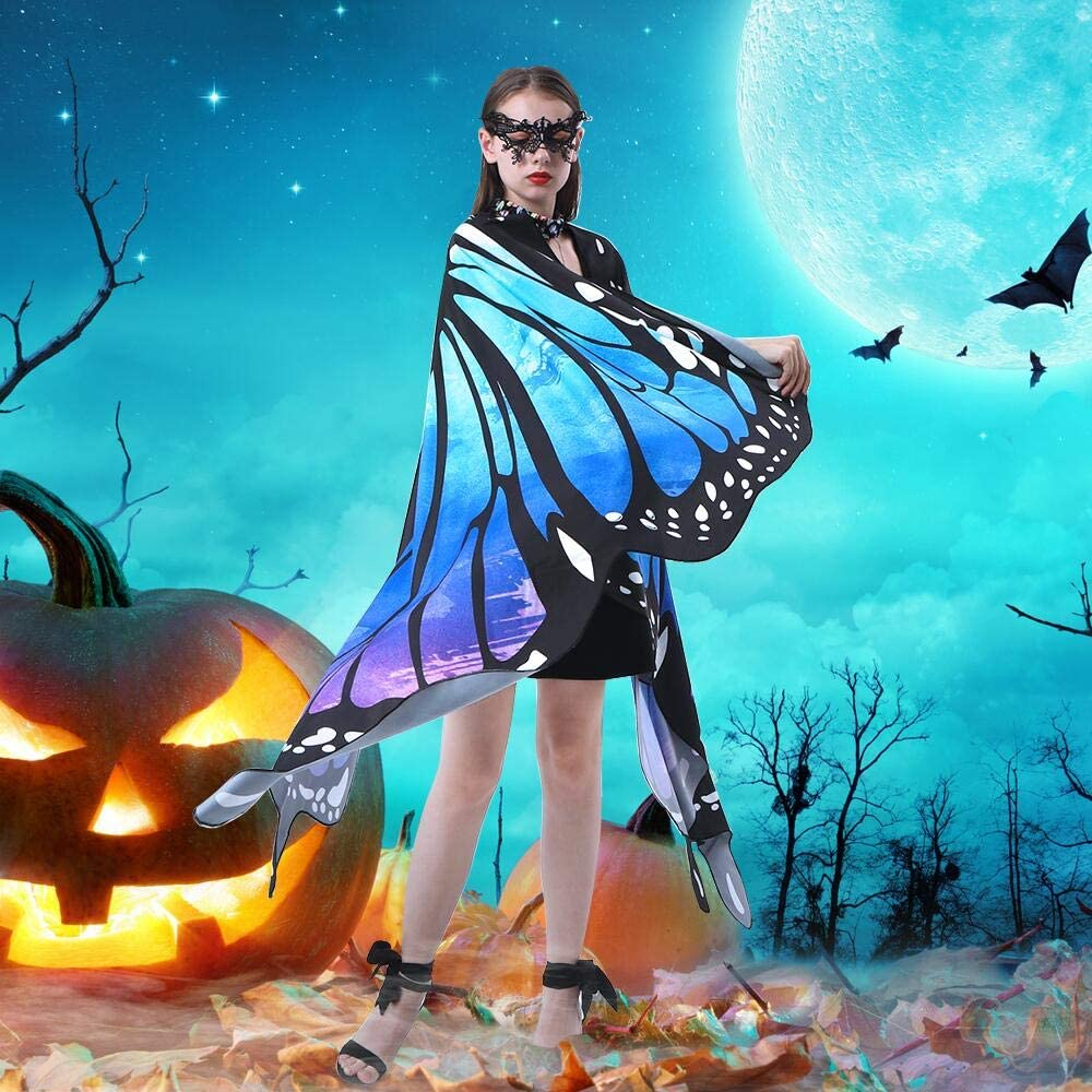 Butterfly Wings for Girls Women Halloween Costume with Free Mask