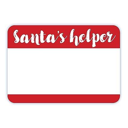 amazon com avery santa s helper name tags christmas party favors