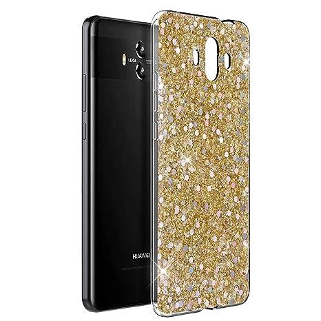 OKZone Funda Huawei Mate 10 Carcasa Purpurina, Cárcasa Lujosa Brilla Glitter Brillante TPU Silicona Teléfono Smartphone Funda Móvil Case [Protección a ...