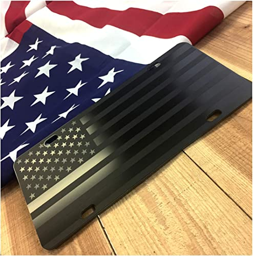 JASS GRAPHIX Almost Invisible Hidden American Flag License Plate
