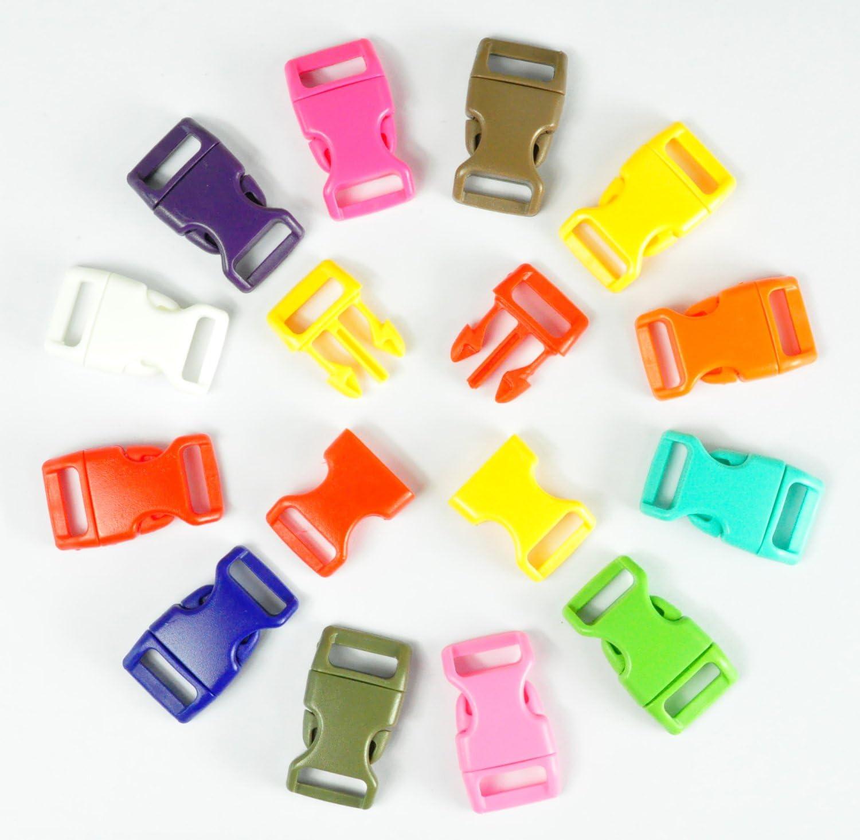 LIHAO Fibbie Plastica 25 Pezzi 1 Fibbie a Scatto Plastica Nero per Zaini ECC.