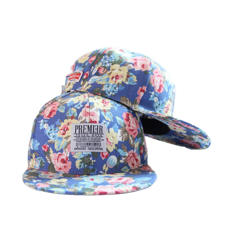 Fashion Trendy Stylish Unisex Man Printed Cool Adjustable Sun-Proof Snapback Hip-hop Hat Baseball Peaked Cap
