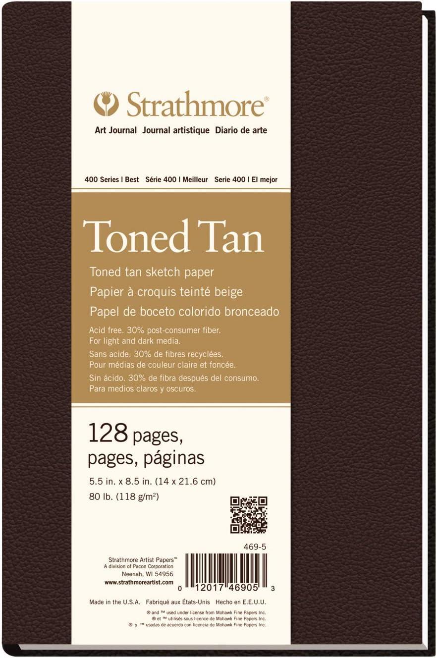 Strathmore str-469/ 80/Toned Tan Art Journal 5.5/da 21,6/cm /5/Foglio di 128/N