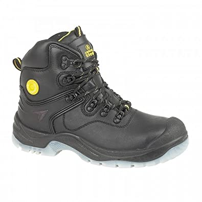 Amblers Lace-Up Textile Lined Mens Shoes - Black - Size 14 XDdyG5dcj