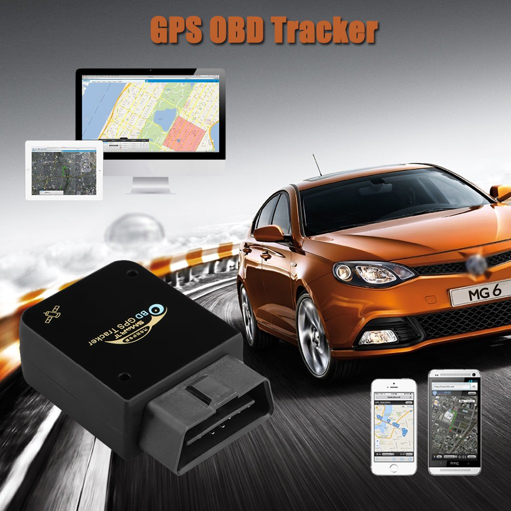 amazoncom excelvan obd ii safety gps tracker real time car truck vehicle tracking gsm gprs mini device spy gps navigation