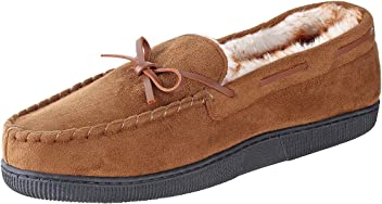 a4697d73b Urban Fox Mens Moccasin Slippers - House Slippers Shoes - Micro Suede -  Moccasins for Men