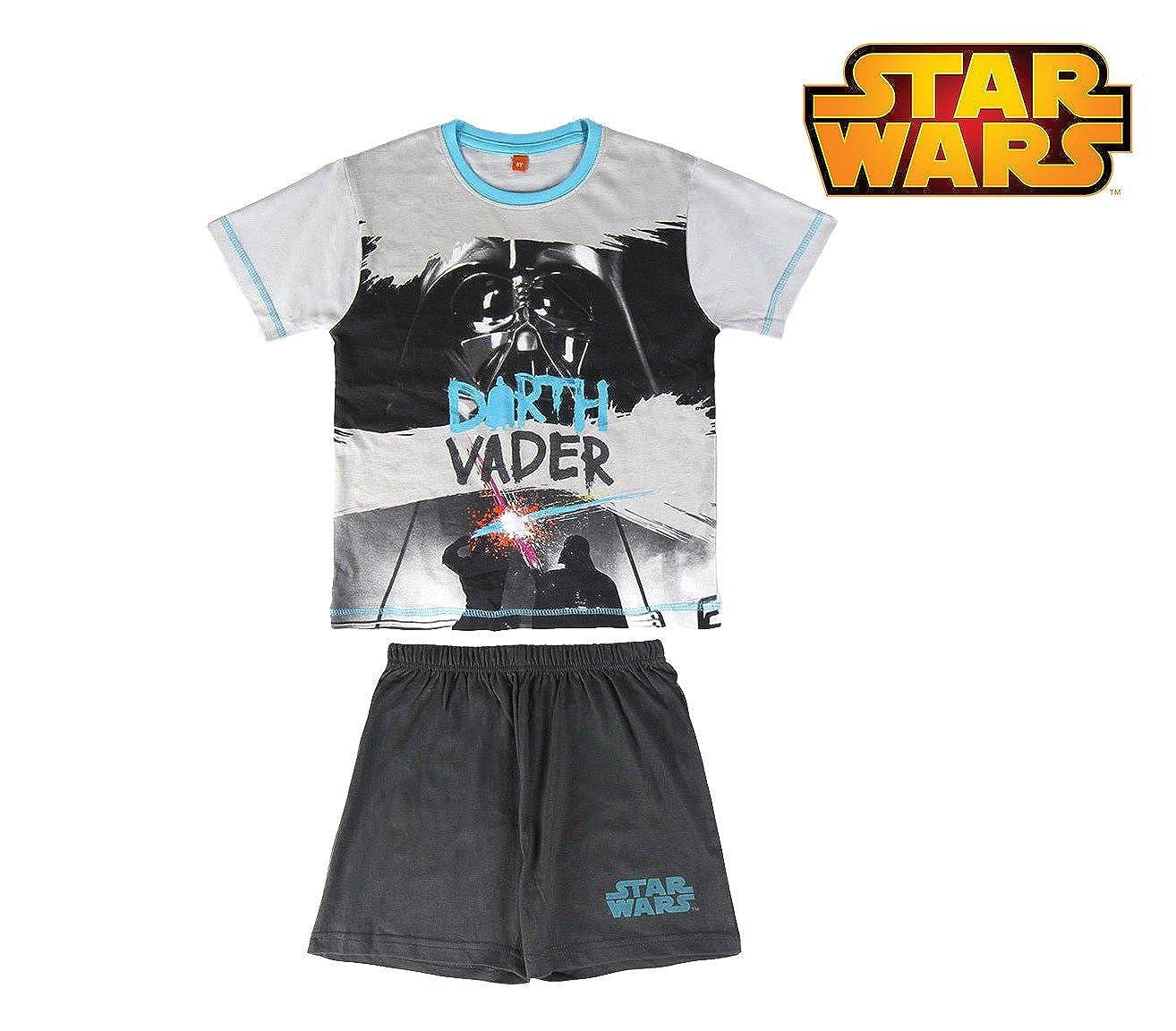 8 Anni MEDIA WAVE store Pigiama Star Wars 22-1975 da Bambino Estivo in Cotone Taglie 8-10-12 Anni