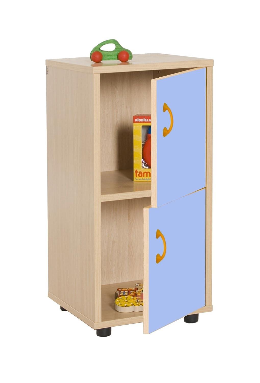Mobeduc 600217hps14 Waschtisch Kinder unter Schrank mit 2 Türen, Holz, Buche und Blau Lavendel, 36 x 40 x 76,5 cm