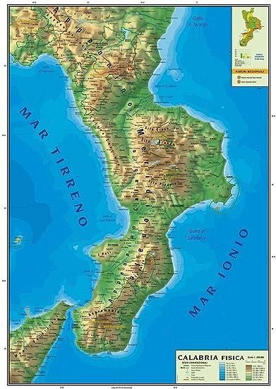 Cartina Calabria E Basilicata.Carta Geografica Murale Regionale Calabria 100x140 Bifacciale Fisica E Politica Amazon It Cancelleria E Prodotti Per Ufficio